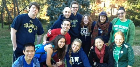 Students on the Mount Vernon Campus
