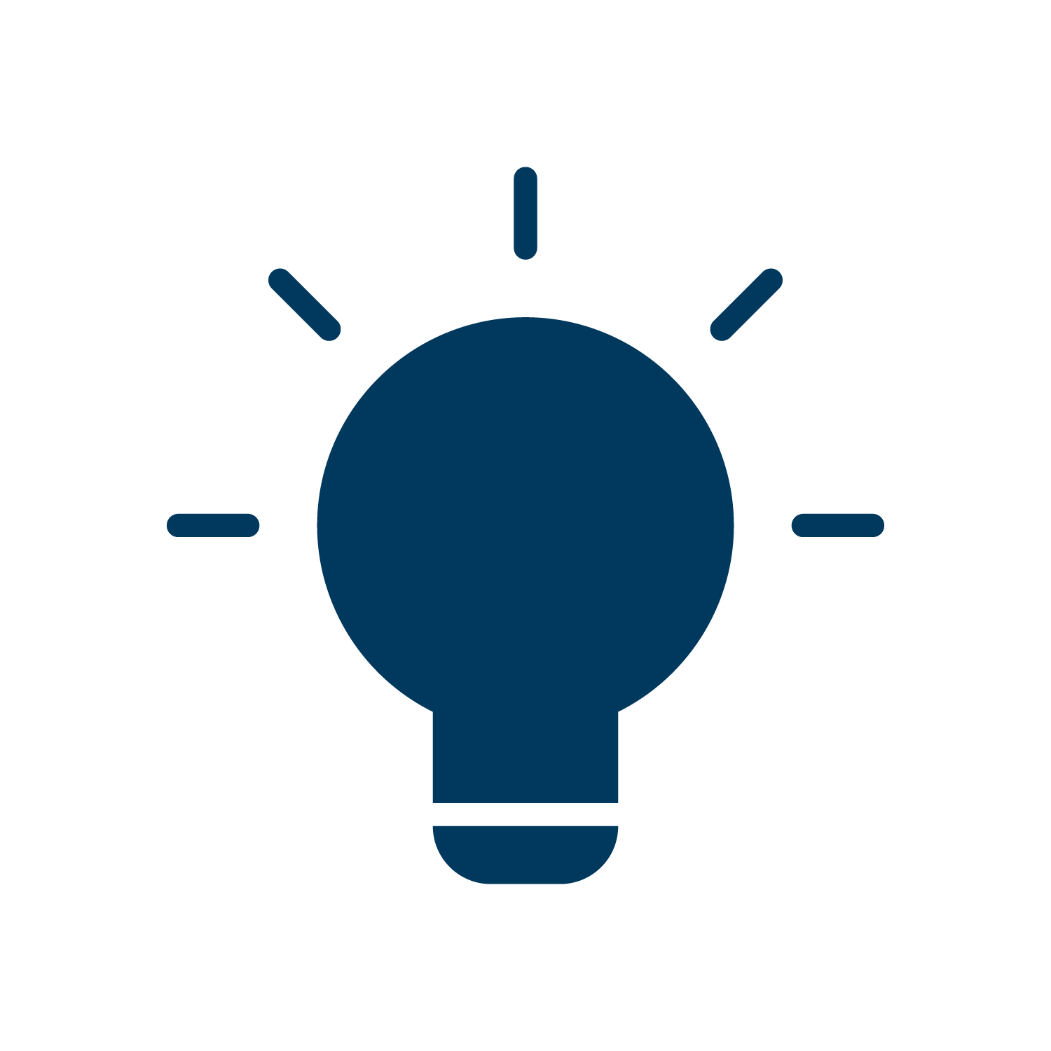 Intellectual wellbeing icon lightbulb