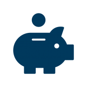 financial wellbeing piggy bank icon