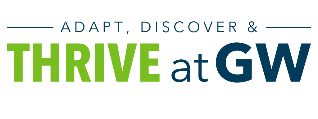 Adapt, Discover & Thrive at GW